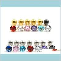 Glocke Drop Lieferung 2021 Großhandel gemischte sexy kristall bars button bauch zirkon geschenk körper schmuck navel piercing ringe ohr knochen ms4kx