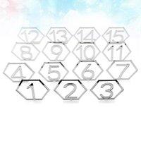 Украшение партии 1 Набор из 15 шт. 1-15 Номер таблицы Декор Акриловые карты Пустотехнистые гексагональные деликатные