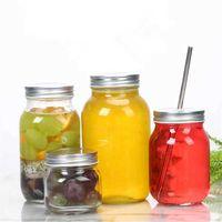 1pc 70mm Regular Mouth Mason Jars and Lids for Storage Canning Drinking Dry Food Yogurt