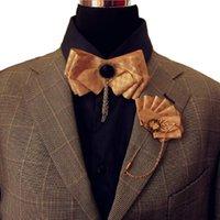 Finest Bow Pie Broochpin Ribbon Men's Corbatas Personalizadas Exquisita Moda Tassel Cadena Mariposa Partido Escenario Bowknot Traje Camisa Accesorio