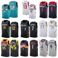 Mens 13 Harden Basketbol Jersey Ja 12 Ahlaki Doncic 7 Durant 11 Irving 1 Booker Formalar City 2021/22 Edition Beyaz Mavi
