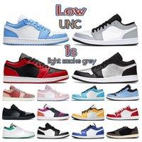 2021 UNC Low 1 1s Dress Shoes Shoes University Blue Panda Luce Smoke Fumo grigio Black Siren Red Reverse Bred Mens Sneakers Donne formatori