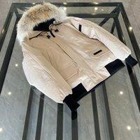 2021 겨울 남성 캐나다 다운 파카스 코트 퓨전 캐나다 보닛 코트 따뜻한 Goode Womens 베이지 파란 재킷 폭격기 모피 Gose Collarr Spz #