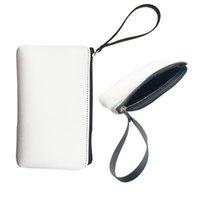 Sublimation vierge blanche imperméable sac cosmétique dame sac à main en néoprène sangle poche de toilette sacs de toilette sacs de maquillage crayon portefeuille porte-monnaie pour femmes filles bricolage bricolage