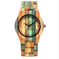 Reloj Shifenmei Relojes de atmósfera de bambú coloridos de la ecología natural Carbonización de la carbonización simple reloj de pulsera de cuarzo