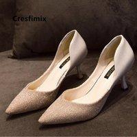 Zapatos de cristal francés zapatos de boda zapatos de novia pequeños tacones altos niños 2021 nuevo estilo stiletto damas damas 5 cm de plata