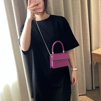 HBP Mini Small Square Bag 2021 Fashion Quality PU Leather Womens Handbag Alligator Leather Chain Shoulder Messenger Bags Totes