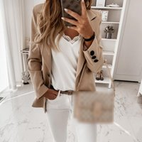 Women's Suits & Blazers Autumn Urban Casual Suit Lead Long-sleeved One-capped Cotton Slim Small Jacket Coats