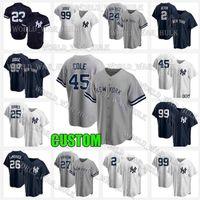 2021 NUEVO 45 Gerrit Cole York Baseball Jerseys 99 Aaron Juez Jersey 2 Derek Jeter DJ Lemahieu 3 Babe Ruth Gleyber Torres Giancarlo Stanton