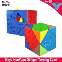 Mais novo Moyu Hunyuan Oblique Magic Cube 3x3 Meilong Cubos de Velocidade 3x3x3 Puzzles Speed Cube Brinquedos para crianças Cubo Magico