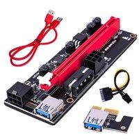 10 sztuk Kable komputerowe Złącza Ver009 USB 3.0 PCI-E RISER VER009S Express Express 1x 4x 8x 16x Extender PCIe Risers Adapter Card SATA 15PIN do 6PIN Power