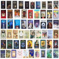 200 Stil Tarotkarten Spiele Oracle Golden Art Nouveau Die grüne Hexe Universal Celtic Thelema Steampunk Board Deck