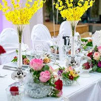 背の高い花の容器の中心的な中心的な中心的な透明なガラスキャンドルホルダースタンドの花の配置花瓶のための花瓶のための花瓶