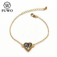 Bracelet Natural Abalone Shell avec doré Cadeau de bijoux de plage de la plage de la plage pour femmes BR518 perlé, brins