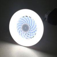 Yam 유니버셜 AC 85V-265V 12W E27 천장 팬 LED 램프 2in1 LED 전구 전기 팬 홈 오피스 야시장