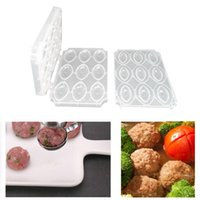 Baking Moulds 9 Holes Meatball Maker Machine Manual Meatloaf Mold DIY Stuffed Minced Processor Desserts Cake Kitchen Tools Accessories