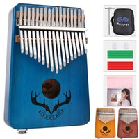 10 Pieces Wholesale 17-Key EQ Kalimba, Electric Finger Thumb Piano Built-in Pickup With 6.35mm Audio Interface and Professional Kalimba Case
