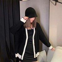 Kadın Kazak Tasarımcısı Ceket Yüksek Kalite Hırka 2021 Klasik kadın Moda Sıcak Giysileri Yeni Mektup Nakış Rahat Ekip Boyun Kazak