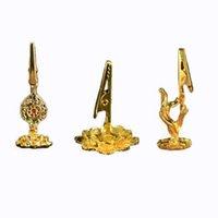 Incenso Cliper Burner Titular Religioso Gold-banhado a ouro Buda Lotus Incense Clip Decoração Y1142