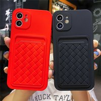 2021 New Shockproof TPU Wallet Card Pocket Holder Mobile Phone Cases For iPhone 12 13 MINI 11 Pro Max 6 7 8 Plus X XS XR Water Resistant Dirt-resistant Case