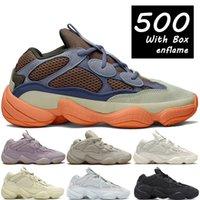 Con la caja enflame 500 zapatillas de correr reflectante suave visión piedra hueso blanco utilidad negro luna amarillo sal hombres mujeres zapatillas de deporte US 5-11.5