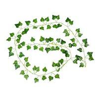 Dekoratif Çiçekler Çelenk 2 M Uzun Yapay Bitkiler Yeşil Ivy Yaprakları Üzüm Asma Sahte Parthenocissus Yeşillik Ev Düğün Bar Dekorasyon,
