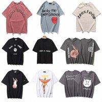Kanye West Mens Womens Jesus t-shirts é rei Tshirts Excursão de comemoração de rua de mangas curtas de mangas a meio grande collarzwp7 #