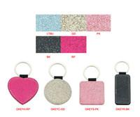 DIY Sublimation Blanks Keychain PU Leather Keychain for Christmas Heat Transfer Keychain Keyring for DIY Craft Supplies GWD9298