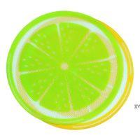 جديد جولة سيليكون الشمع داب حصيرة سيليكون dabbing حصيرة الليمون تصميم غير عصا dabber ورقة dab وسادة ل جاف عشب الشمع النفط AHD6616