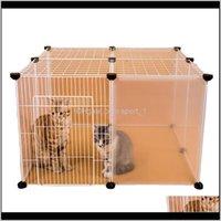Cat CarriersCrates Casas DIY Gatos CAGE PLAYPENS Portão Transporte Iron Cerca Pequenos Animais de Estimação Exercício Treinamento Aviary para Cachorros Cachorrinhos Kennel MJ3CW