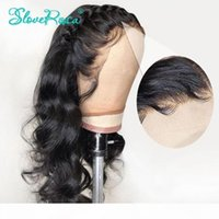 Body Wave Peruvian Remy Hair 130% Density 13x4 Lace Front Human Hair Wigs For Black Women Bleached Knots Baby Slove Rosa