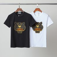 Fashion tiger head mens women designers t shirt #1803 Europe paris off summer Embroidery letters tees Essentials luxurys white casual clothing with label