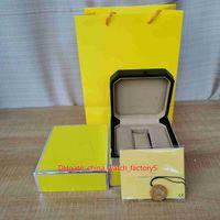 Classico di alta qualità giallo 1884 orologi boxes orologio moda box originali box borse in pelle di legno per cronospace superavangenti da polso superocean