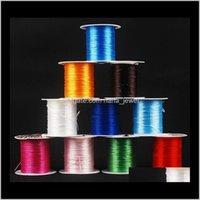 Componenti di riscontro Consegna di caduta 2021 10m in nylon perline elastici perline cordone Stringa filettatura per gioielli fai-da-te facendo corde perline wire corde - 0017