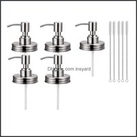 Bathroom Aessories Bath Home & Garden5Pack Mason Jar Soap Dispenser Lids With Pumps, Rustproof Stainless Steel Lotion Replacement Liquid Dro