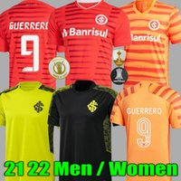 21 22 Club Internacional Futebol Jersey Vermelho Home 2022 Away Camisa de Futebol N. Lopez D.Alessandro Pottker Mulheres
