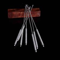 Cleaners Small Brush Metal Wooden Pipe Water Pipe Cleaner Hookah Tools Shisha Brushs With Pipe Smoking Cleaner 2111 V2