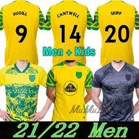 2021 2022 Norwich City 21 22 Kit Jersey di calcio Kit Pukki Jerseys Hurseil Roberts Hernandez Stiepermann McLean Benendia Footy Men Bambini Camicia calcio
