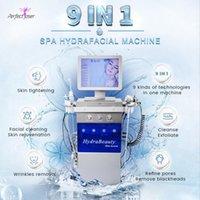 2021 HydroderMabrasion Diamond Hydrafacial máquina de dermoabrasão de alta freqüência LED luz encolher pores Equipamento de beleza no uso de salão