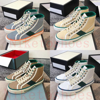 1977 High Top Sneaker Italia Green Red Stripe Luxurys Zapatos 77 Bordado Imprimir Lienzo As Vintage Designer Sneakers Tenis Casual Zapato
