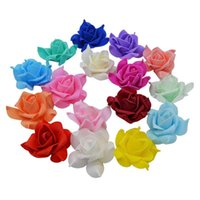 10pcs 8cm PE Foam Rose Heads Artificial Flowers Handmade DIY Rosette Bouquet For Wedding Decoration Scrapbooking Fake 8Z Decorative & Wreath