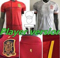 2021 Espana 축구 유니폼 Rodrigo Torres 스페인 팬 플레이어 버전 축구 셔츠 Morata Ramos Thiago Iniesta Kids Kit España 장비 Camisetas de Futbol