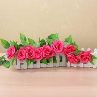 50pcs DHL Free 245cm Decoration De Mariage Artificielle Fake Silk Rose Vigne Accrocher Guirlande Mariée Maison Décorative Fleurs Couronnes 614 R2