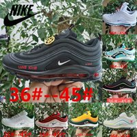 Scarpe da uomo 2021 Air Vapor Max 97 Running Outdoor Sneakers Black Bullet Sean Wotherspoon Reflective Bred Chile Red Retro Classic og 97s Womens Trainers