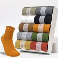 10 Pairs High Quality Cotton Japanese Men's Socks Colorful New 's Casual Brand Business Dress happy Socks For Man Gifts Sox