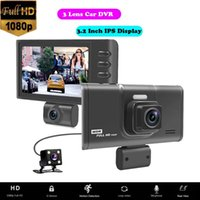 "Lens Car DVR Camera Video Recorder Full HD 1080P 170 Degree Dash Cam 3.2"" IPS Display G-Sensor Dashcam With Rear Dashboard DVRs"