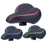 Bike Saddles 3D Soft Thickened Bicycle Seat Breathable Saddle Cover Comfortable Foam Mountain Cycling Pad