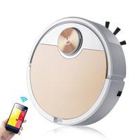 Smart Robot Vacuum Cleaner Mobile Phone App Controle Remoto Vaccum Automático para Casa Eletrodomésticos Limpeza Limpadores