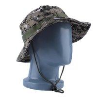 Askeri Ordu Orman Camo Boonie Kova Kap Şapka Balıkçılık Güneş Kapaklar 2021 Moda Damla Kamuflaj Şapkalar Geniş Ağız