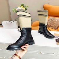 럭셔리 디자이너 여성 반 부츠 신발 겨울 chunky med heels 일반 사각형 발가락 신발 Rainboots Zip 여성 중간 송아지 부티 착용 내마모성 두꺼운 soled boot a779